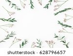 flowers composition. frame made ... | Shutterstock . vector #628796657