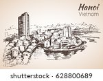 vietnam. sketch. isolated on... | Shutterstock .eps vector #628800689