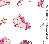 cute seamless pattern with...   Shutterstock .eps vector #628811147