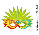 carnival mask isolated icon | Shutterstock .eps vector #628812011