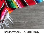 poncho serape background... | Shutterstock . vector #628813037