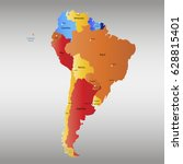 map of south america. vector...