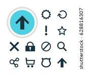 vector illustration of 12... | Shutterstock .eps vector #628816307