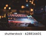 music equipment for sound mixer ... | Shutterstock . vector #628816601