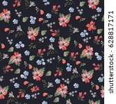 seamless vintage floral pattern ... | Shutterstock .eps vector #628817171