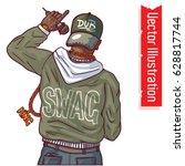 the rapper african american... | Shutterstock .eps vector #628817744