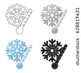frost icon in cartoon style... | Shutterstock .eps vector #628819631