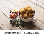 brazilian fried snack  cheese... | Shutterstock . vector #628823501
