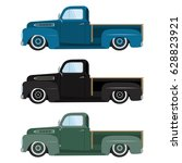 vintage colors cars a vector... | Shutterstock .eps vector #628823921