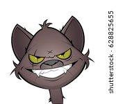 Evil Grinning Cartoon Cat