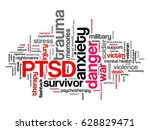 ptsd   post traumatic stress... | Shutterstock . vector #628829471