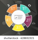 business circle infographic... | Shutterstock .eps vector #628832321
