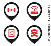 thin icon. set of 4 thin filled ...