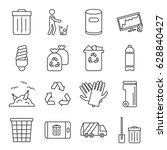 set of garbage related vector...   Shutterstock .eps vector #628840427