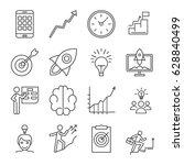 set of startup related vector... | Shutterstock .eps vector #628840499