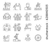 set of business people related... | Shutterstock .eps vector #628840505