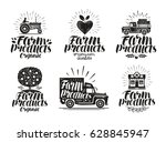 farm product  label set.... | Shutterstock .eps vector #628845947