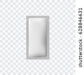 white blank sachet packaging... | Shutterstock .eps vector #628846631