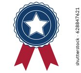 usa seal stamp and star icon.... | Shutterstock .eps vector #628847621