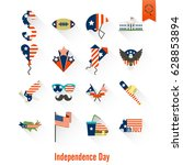 4th of july  independence day... | Shutterstock .eps vector #628853894