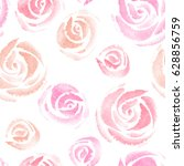 watercolor floral seamless... | Shutterstock .eps vector #628856759