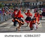 cusco  peru   june 23 2013 ... | Shutterstock . vector #628862057