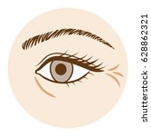 eye wrinkle   aging process... | Shutterstock .eps vector #628862321