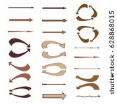 set of colored vector arrows.... | Shutterstock .eps vector #628868015