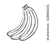 banana fresh fruit icon | Shutterstock .eps vector #628868231