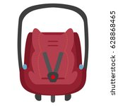 vector child car seat 0 . front ... | Shutterstock .eps vector #628868465