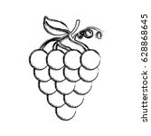 grapes fresh fruit icon | Shutterstock .eps vector #628868645