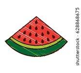 watermelon fresh fruit icon | Shutterstock .eps vector #628868675