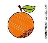 orange fresh fruit icon | Shutterstock .eps vector #628868729