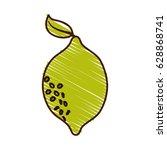 lemon fresh fruit icon | Shutterstock .eps vector #628868741