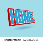 home text for title or headline.... | Shutterstock . vector #628869011