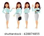 elegant people businesswoman | Shutterstock .eps vector #628874855