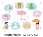 an image of the rainy season. | Shutterstock .eps vector #628877561