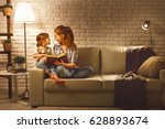 family before going to bed...   Shutterstock . vector #628893674