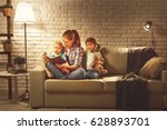 family before going to bed... | Shutterstock . vector #628893701