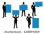 silhouette of businessman take... | Shutterstock . vector #628894469
