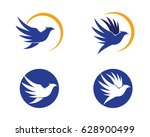 bird logo template vector... | Shutterstock .eps vector #628900499