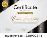 certificate template luxury and ... | Shutterstock .eps vector #628902941