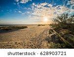 beach scenes on west boulevard... | Shutterstock . vector #628903721