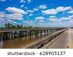 freeway bridge over atchafalaya ... | Shutterstock . vector #628905137