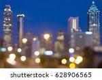 atlanda georgia city skyline... | Shutterstock . vector #628906565