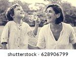 teacher is teaching student do... | Shutterstock . vector #628906799