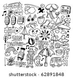 doodle travel   Shutterstock .eps vector #62891848