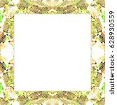 rectangular frame of stained... | Shutterstock . vector #628930559