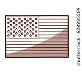 monochrome silhouette of flag... | Shutterstock .eps vector #628935209
