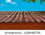 background of roof pattern | Shutterstock . vector #628948754